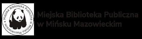 Logo Miejskie Biblioteki Publicznej w Mińsku Mazowieckim przedstawiające pandę.