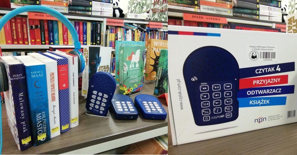 czytaki i słuchawki na książkach