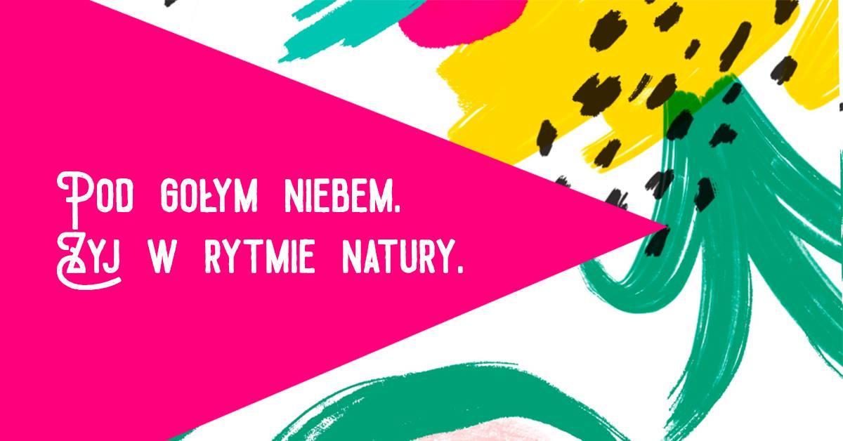kolorowa grafika fragment ananansa napi pod gołym niebem - żyj w rytmie natury