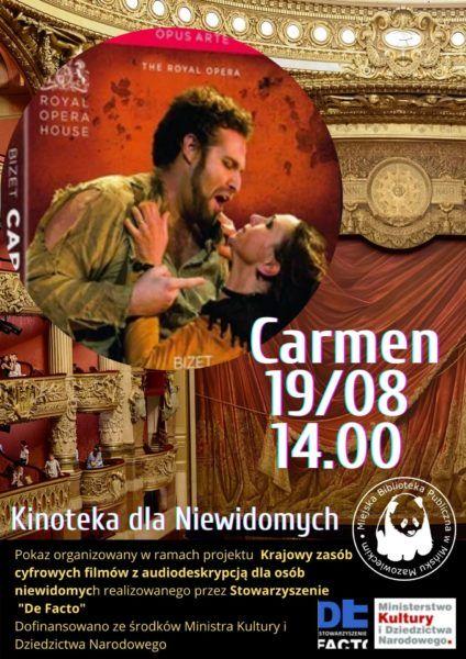 w tle wnetrze opery na pierwszym planie dwoje śpiewaków Carmen 19.08 godz. 14.00