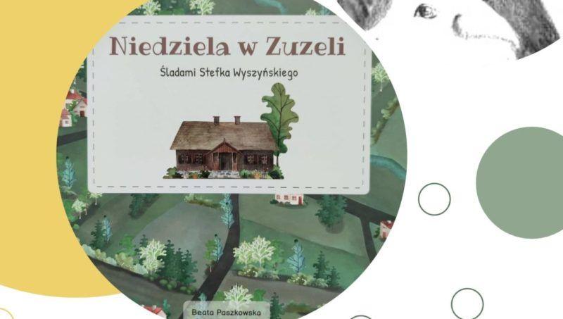 w kółku okładka książki Niedziela w Zuzeli